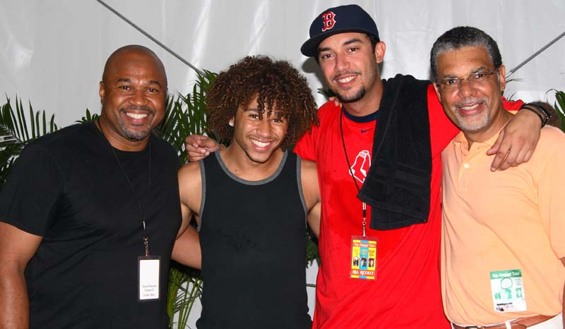 Corbin Bleu and his Dad, Mikey Life and his Dad